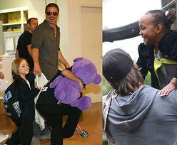 Brad Pitt spotkał się z dziećmi w święta!