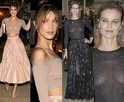"""Cannes 2019: Bella Hadid i Eva Herzigova walczą o uwagę na kolacji """"Vogue'a"""""""