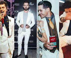 Stylowy biały garnitur w stylizacjach celebrytów