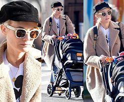 Niepozorna Diane Kruger na spacerze z dwumiesięczną córeczką