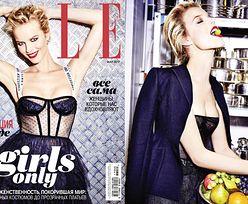 "44-letnia Eva Herzigova na okładce ""Elle"""