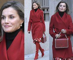 Elegancka królowa Letizia z torebką z Zary