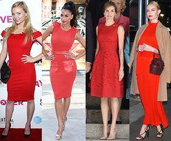 Gwiazdy uwielbiają czerwone sukienki