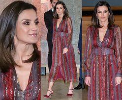 Hiszpańska królowa Letizia błyszczy w sukience z sieciówki