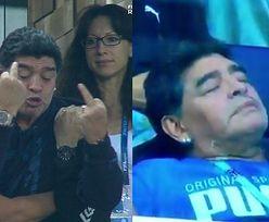 Mundial 2018: Diego Maradona pokazał sędziemu środkowy palec. Potem zasnął na trybunach