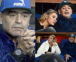 Diego Maradona z 25-letnią dziewczyną na trybunach (ZDJĘCIA)