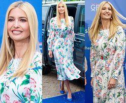 Uśmiechnięta Ivanka Trump pozuje w letniej sukience za 10 tysięcy