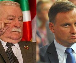 """Wałęsa o niepełnym wecie Dudy: """"JEST CZĘŚCIOWYM MĘŻCZYZNĄ!"""""""