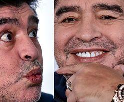 Diego Maradona i jego DZIWNE MINY na konferencji w Białorusi (FOTO)