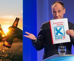 Kukiz chce zalegalizować... picie piwa w plenerze!