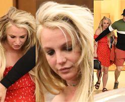 Zagubiona Britney Spears opuszcza hotel z narzeczonym. Wyszła na przepustkę ze szpitala psychiatrycznego (FOTO)
