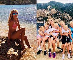 Izabella Łukomska-Pyżalska spędza wakacje z szóstką dzieci (FOTO)