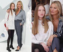 Kate Moss promuje ambitną córkę na paryskim pokazie Diora