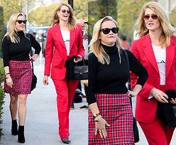 Zaaferowane Reese Witherspoon i Laura Dern wracają ze świątecznego obiadu