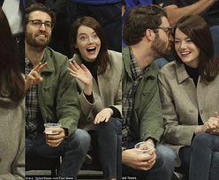 """Emma Stone ekscytuje się meczem koszykówki w towarzystwie """"tajemniczego"""" chłopaka (FOTO)"""