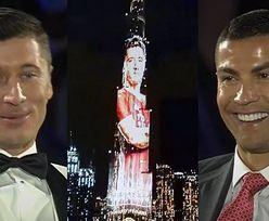 """Robert Lewandowski, Cristiano Ronaldo z Georginą i Gerard Pique na gali """"Globe Soccer Awards"""". Polak okrzyknięty PIŁKARZEM ROKU (ZDJĘCIA)"""
