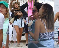 Julia Wieniawa i Nikodem Rozbicki dokazują na plaży w Gdyni w towarzystwie Jessiki Mercedes i Kuby Karasia (ZDJĘCIA)