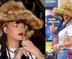 Rihanna w ogromnym kapeluszu robi zakupy w SPECJALNIE DLA NIEJ otwartej księgarni (ZDJĘCIA)