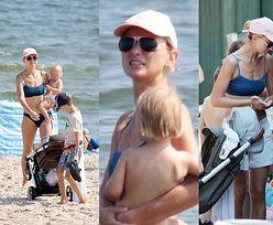 Joanna Moro oporządza trójkę pociech podczas wakacji nad Bałtykiem (ZDJĘCIA)