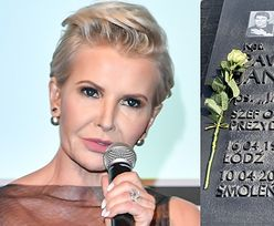 """Joanna Racewicz nie chce kwiatów na grobie męża: """"Jeśli chcą mu się ukłonić, niech ZABIORĄ NA SPACER jego syna"""""""