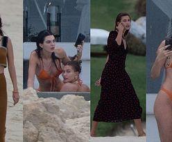 Kendall Jenner i Hailey Bieber korzystają z wakacji w Meksyku, prężąc smukłe sylwetki w bikini (ZDJĘCIA)