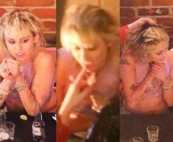 Miley Cyrus i jej ALKOHOLOWA LIBACJA: szoty, rozwiane włosy i podgryzanie palców Yungbluda! (ZDJĘCIA)