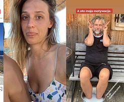 """Wyluzowana Aleksandra Żebrowska porównuje swojego męża do Roberta Lewandowskiego: """"Ania ma w domu taką motywację. A OTO MOJA"""" (FOTO)"""