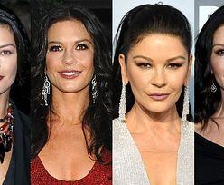 """""""Zbotoksowana"""" Catherine Zeta-Jones zaskoczyła wyglądem na gali Złotych Globów. Zobaczcie, jak zmieniała się przez lata (ZDJĘCIA)"""