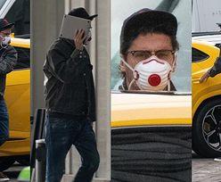 Zamaskowany Kuba Wojewódzki BEZ OCHRONY wozi się lamborghini za 1,5 miliona złotych i zasłania twarz laptopem (ZDJĘCIA)