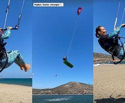 Spragniona adrenaliny Kinga Rusin szaleje na desce podczas greckich wakacji
