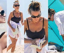 55-letnia Sarah Jessica Parker oddaje się lekturze na plaży w Hamptons (ZDJĘCIA)