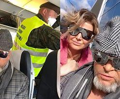 """TYLKO NA PUDELKU: Maja Rutkowski relacjonuje badanie na pokładzie samolotu: """"PUSTE LOTNISKA. Na pokład wkroczył żołnierz obrony terytorialnej"""""""