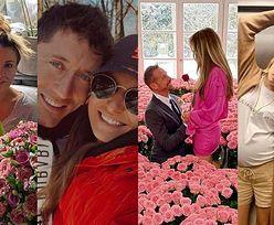 Walentynki z gwiazdami: Anna Lewandowska na spacerze z Robertem, Małgorzata Rozenek z balonami w łóżku, Joanna Przetakiewicz w morzu róż (ZDJĘCIA)