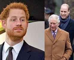 """Książę Harry próbował """"oczyścić atmosferę"""" na spotkaniu z Karolem, Williamem i Kate Middleton. """"Odbyło się na JEGO TERENIE"""""""