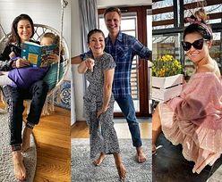 Tak mieszkają Katarzyna Cichopek i Marcin Hakiel - stonowane barwy, przepełniony kwiatami balkon i... huśtawki (ZDJĘCIA)