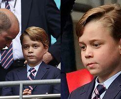 """William i Kate krytykowani za wciskanie 7-letniego George'a w garnitur: """"KTO TAK UBIERA DZIECKO NA MECZ?"""""""