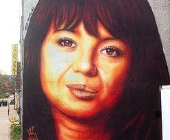 """Graficiarz POPRAWIA nieudany mural z Anną Przybylską! """"Chcieliście, żeby była chudsza? Będzie chudsza"""" (FOTO)"""