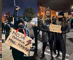 Celebryci na piątkowym Strajku Kobiet: Anna Mucha o kulach, Julia Wieniawa z Jessicą Mercedes, Barbara Kurdej-Szatan (ZDJĘCIA)
