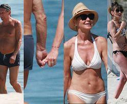 Zakochani Beata Ścibakówna i Jan Englert spacerują ZA RĘKĘ po plaży w Juracie (ZDJĘCIA)