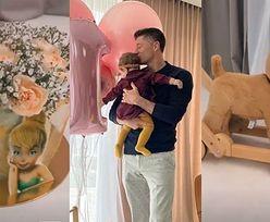 Laura Lewandowska świętuje ROCZEK: tort z żywymi kwiatami, różowe balony i pluszowy pies... (ZDJĘCIA)