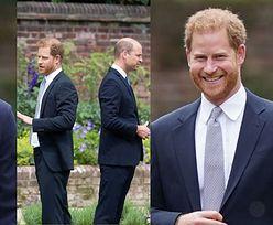 Książę William i Harry odsłaniają pomnik księżnej Diany w ogrodach Pałacu Kensington (ZDJĘCIA)