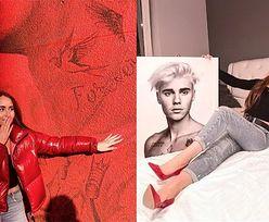 Podekscytowana Angelika Mucha czule GŁADZI MURAL z Justinem Bieberem (FOTO)