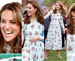 Szczęśliwa księżna Kate w kwiecistej sukience za 9 000 złotych otwiera plac zabaw dla dzieci (ZDJĘCIA)