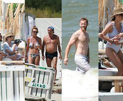 Anna Czartoryska na plaży miesiąc po porodzie w towarzystwie Niemczyckich i Englertów (ZDJĘCIA)