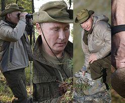 Putin zbiera grzyby na wakacjach (ZDJĘCIA)