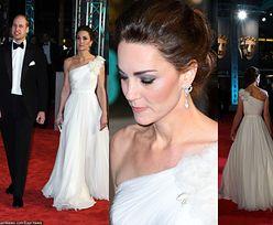 BAFTA 2019: księżna Kate w bieli zachwyca u boku męża (ZDJĘCIA)