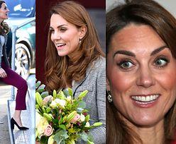 Radosna księżna Kate w spodniach i kolczykach za 14 tysięcy złotych spotyka się z wolontariuszami (ZDJĘCIA)