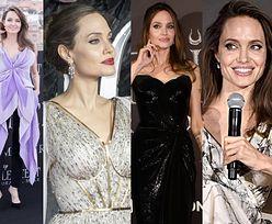 """Wszystkie stylizacje Angeliny Jolie promującej """"Czarownicę"""". W której wygląda najpiękniej? (ZDJĘCIA)"""