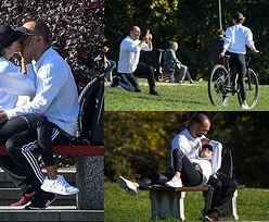 Randka w stylu Chodakowskiej: rowery, selfie, akrobacje na ławce (ZDJĘCIA)