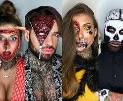 KOSZMARNE makijaże Deynn i Majewskiego: sztuczna krew, włochate pająki i wypływające mózgi (ZDJĘCIA)